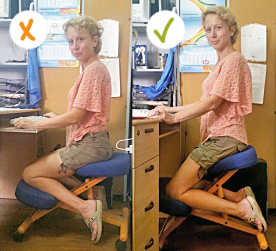 Стул детский коленный сустав